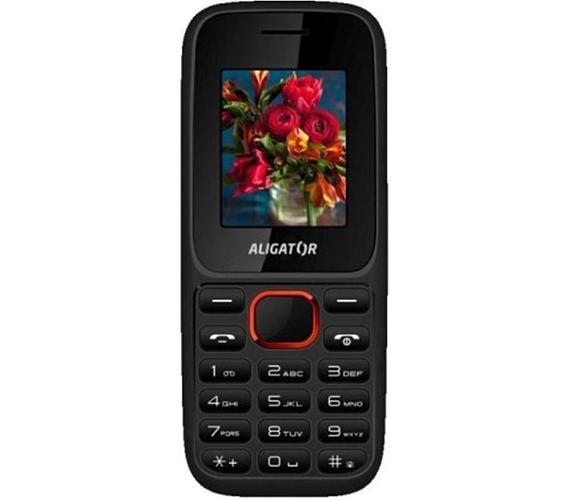Mobilní telefon Aligator D200 Dual Black red