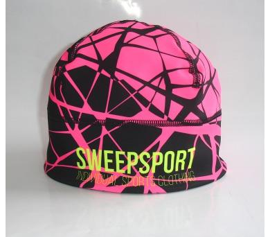 Čepice Sport SCP060 černo/růžová fluo