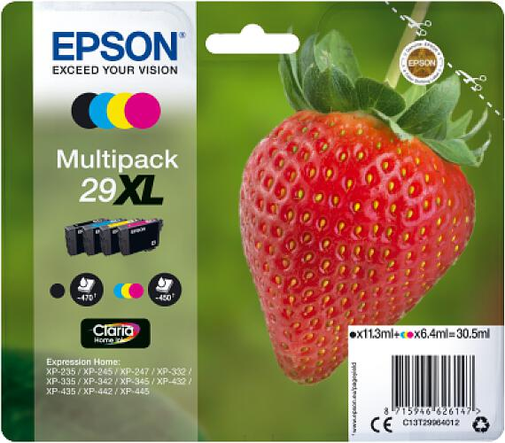 Epson Multipack 4-colours 29XL Claria Home Ink (C13T29964012) + DOPRAVA ZDARMA