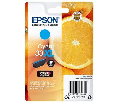 Epson Singlepack Cyan 33XL Claria Premium Ink (C13T33624012)