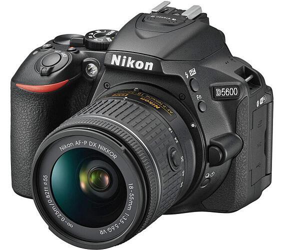 NIKON D5600 + 18-55 AF-P VR KIT (VBA500K001) + ČIŠTĚNÍ ČIPU ZDARMA!