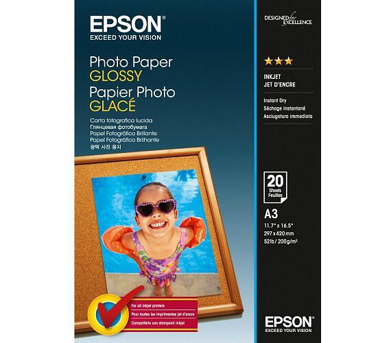 EPSON Photo Paper Glossy A3 20 listů