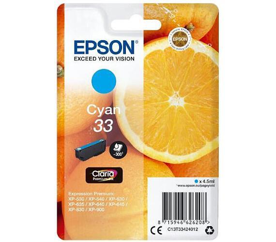 Epson Singlepack Cyan 33 Claria Premium Ink (C13T33424012)