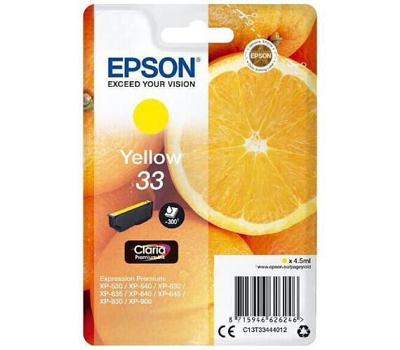 Epson Singlepack Yellow 33 Claria Premium Ink (C13T33444012)