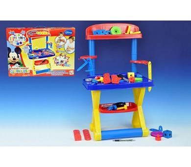 KMS Pracovní stůl/Ponk Mickey Mouse Clubhouse 30 doplňků v krabici + DOPRAVA ZDARMA