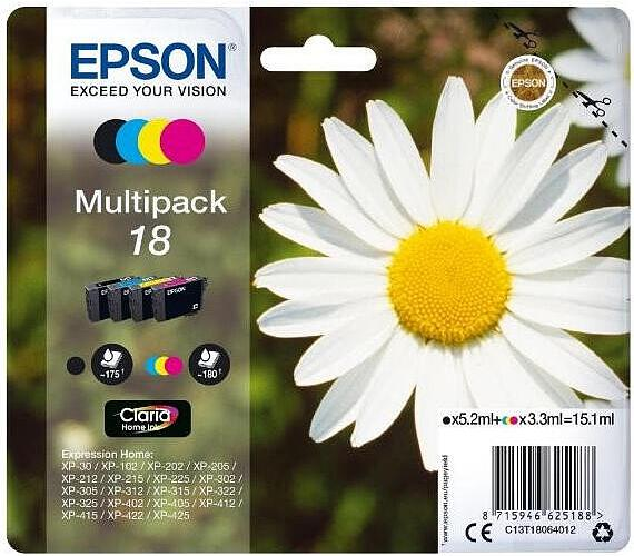 Epson Multipack 4-colours 18 Claria Home Ink + DOPRAVA ZDARMA