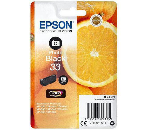 Epson Singlepack Photo Black 33 Claria Premium Ink (C13T33414012)