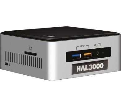 HAL3000 NUC Kit Core/ Intel Core i3-6100U/ 4GB/ SSD 120GB/ WiFi/ CR/ bez OS