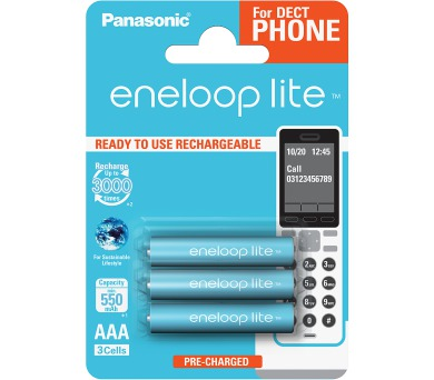 Panasonic HR03 AAA 4LCCE/3BE ENELOOP DECT