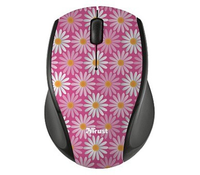 TRUST Oni Wireless Micro Mouse - pink flower