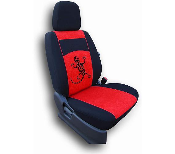 Autopotahy Gekon Alcantara červený