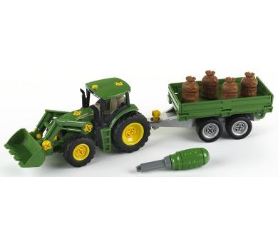 John Deere Traktor s přívěsem + DOPRAVA ZDARMA