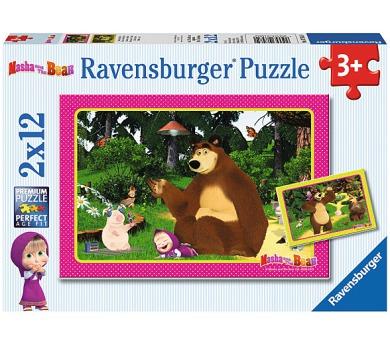 Ravensburger puzzle Máša a Medvěd 2x12 dílků