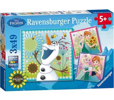 Ravensburger Puzzle Ledové království Fever 3x49 dílků
