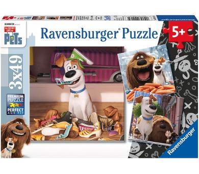 Ravensburger puzzle Tajný život mazlíčků 3x49 dílků
