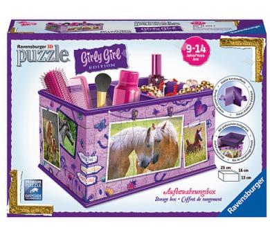 Ravensburger 3D puzzle Úložná krabice Kůň 216 dílků + DOPRAVA ZDARMA