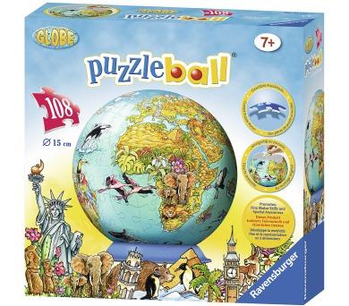 Dětská mapa světa Puzzleball 108d + DOPRAVA ZDARMA