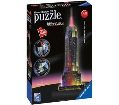 Ravensburger 3D puzzle budovy Noční edice Empire State Building 216 dílků + DOPRAVA ZDARMA