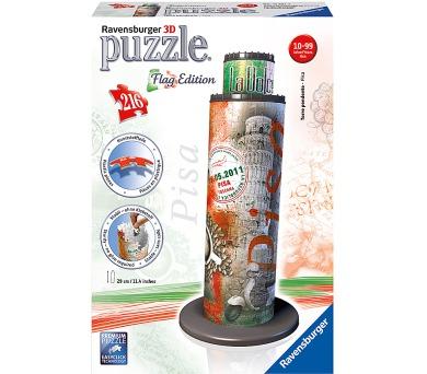 Ravensburger puzzle 3D Šikmá věž v Pise Vlajková edice 216 dílků + DOPRAVA ZDARMA