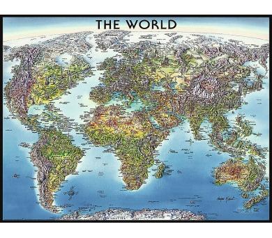 Ravensburger puzzle Mapa světa 2000 dílků + DOPRAVA ZDARMA