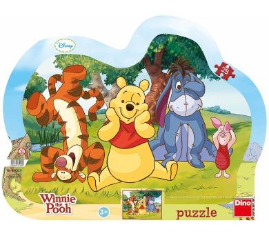 Dino puzzle Walt Disney Schovávaná s Medvídkem Pú 25 dílků