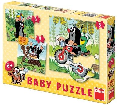 Dino baby puzzle Krtek na louce 3-5 dílků
