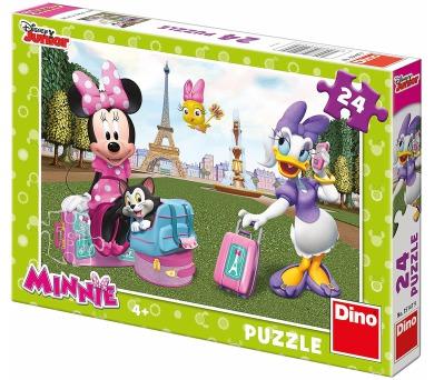 Dino puzzle Walt Disney Minnie v Paříži 24 dílků