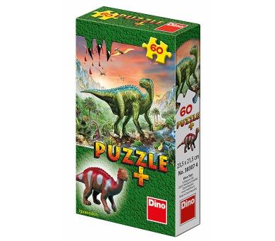 Dino puzzle Dinosauři + Figurka 60 dílků