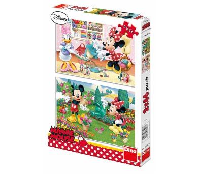 Dino puzzle Walt Disney Pracovitá Minnie 2x66 dílků