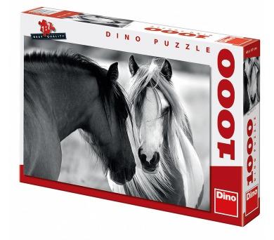 Dino puzzle Černobílí koně 1000 dílků