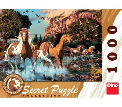 Dino puzzle Koně 1000 dílků secret collection