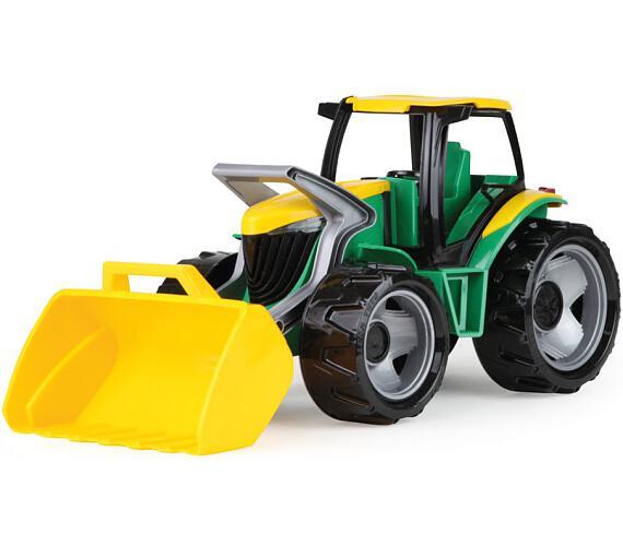 Traktor se lžíci zeleno žlutý