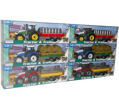 1:32 Traktor s valníkem 6ass