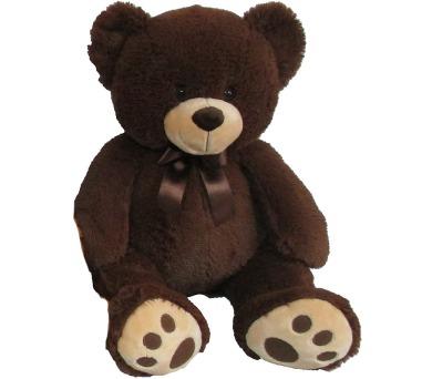 Plyšový medvídek tmavě hnědý