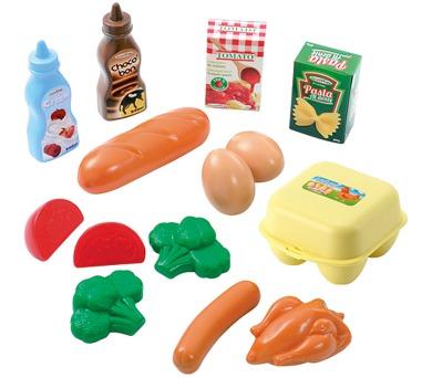 Plastové hračky potraviny v síťce