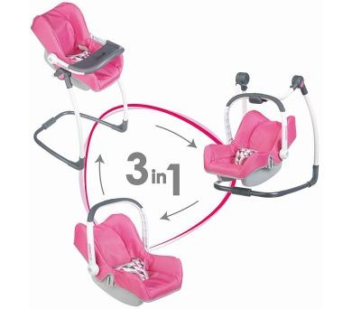 3v1 Autosedačka a židlička Maxi Cosi pro panenky + DOPRAVA ZDARMA