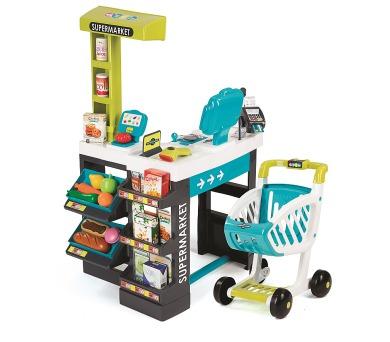 Supermarket modro-zelený + DOPRAVA ZDARMA
