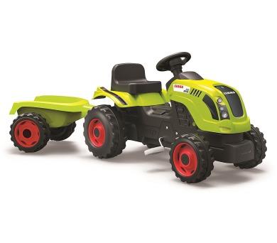 Šlapací traktor CLAAS zelený s vozíkem + DOPRAVA ZDARMA
