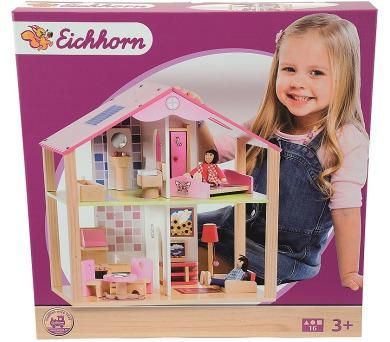 Dřevěný domeček pro panenky s přísl. + DOPRAVA ZDARMA