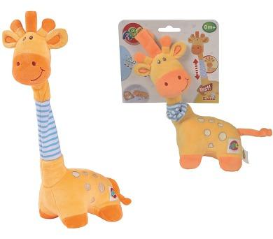Žirafa hudební plyšová 32 cm