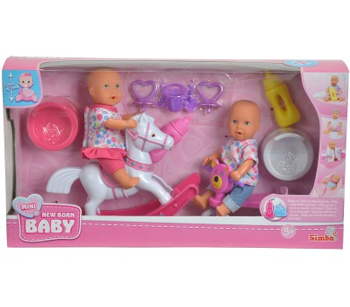 """New Born Baby Hrací set 2 panenky """"pije a čůrá"""" + DOPRAVA ZDARMA"""