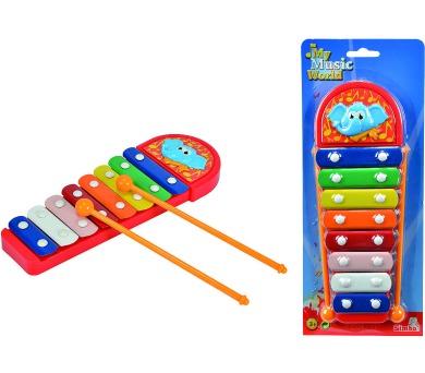 Xylofon sloník s 8 kovovými klávesami