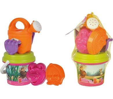 Kyblíček Máša a medvěd s konvičkou a příslušenstvím baby set