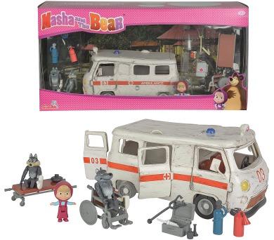 Máša a medvěd Ambulance hrací set + DOPRAVA ZDARMA