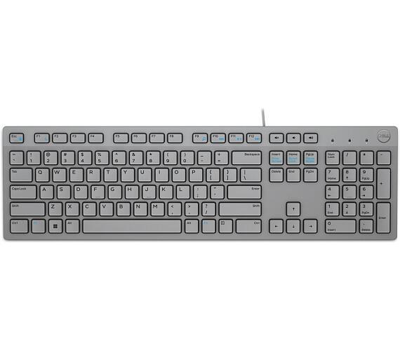 DELL klávesnice KB216/ multimediální/ US/ mezinárodní/ USB/ drátová/ šedá