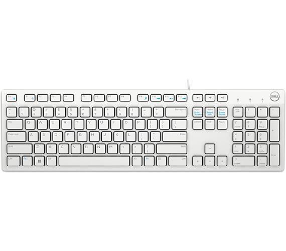 DELL klávesnice KB216/ multimediální/ UK/Irish / USB/ drátová/ bílá