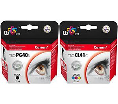 TB B+CMY ink. komp. s Canon PG-40 + DOPRAVA ZDARMA