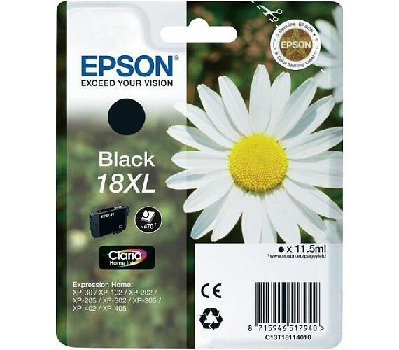 Epson Singlepack Black 18XL Claria Home Ink (C13T18114012)
