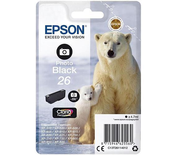 Epson Singlepack Photo Black 26 Claria Premium Ink (C13T26114012)