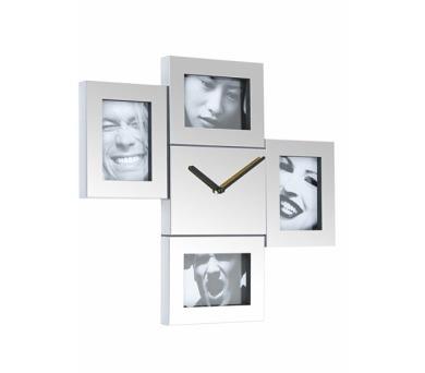 Fisura nástěnné hodiny Steel Photo Frames 43cm + DOPRAVA ZDARMA